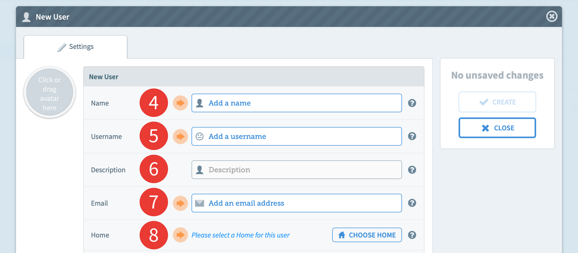 D4 1 Create a new user - Chorus User Guide - Third Light