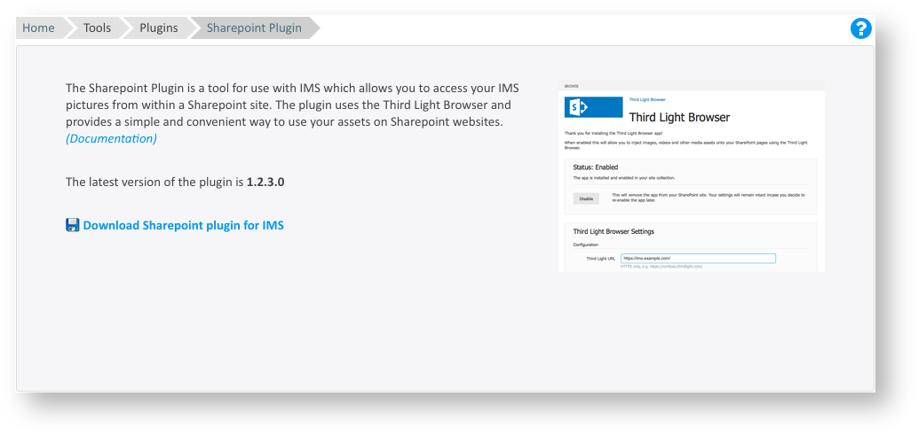 Installing the Third Light plugin for SharePoint Enterprise