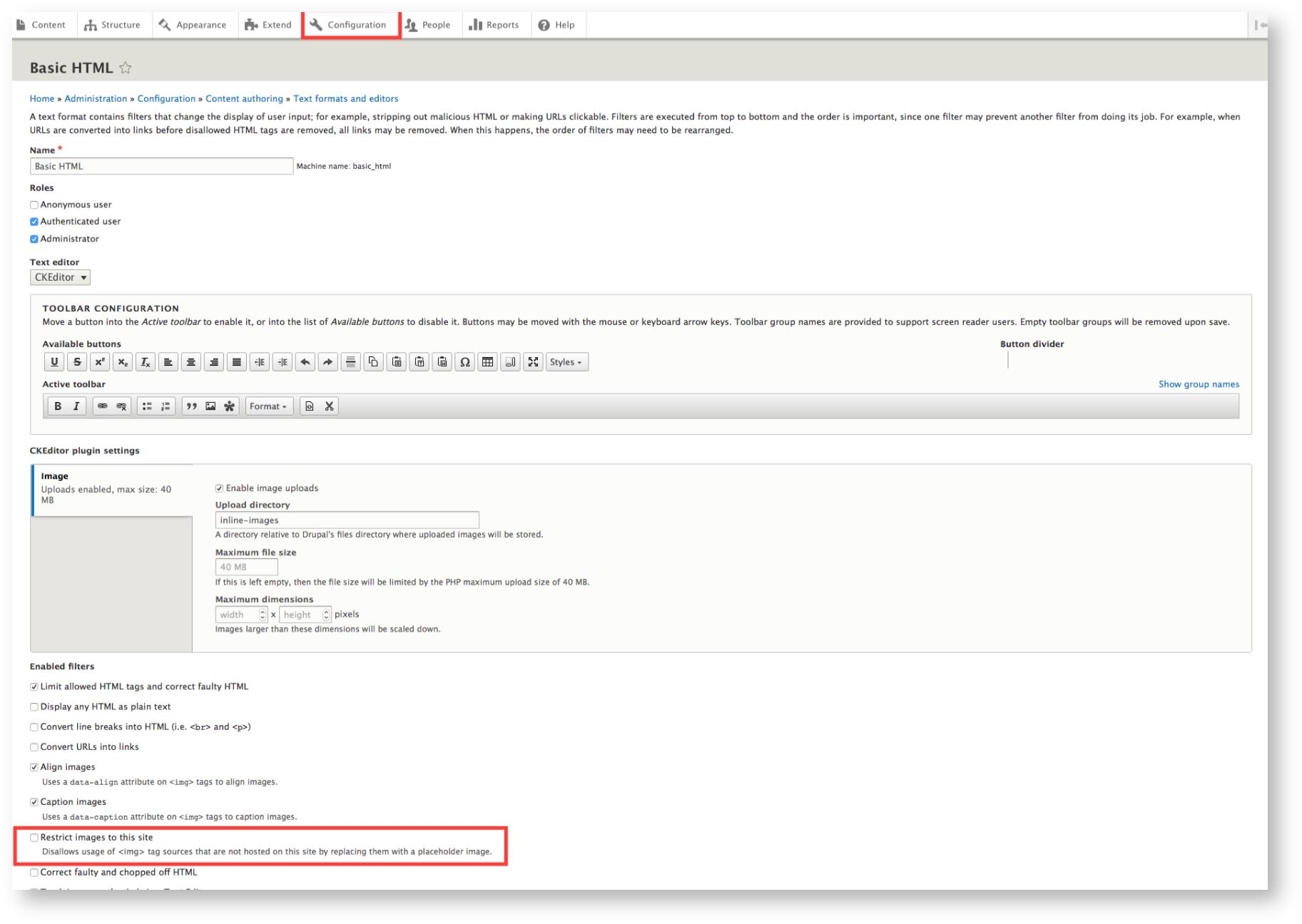 Drupal 8 Module - Chorus User Guide - Third Light Documentation