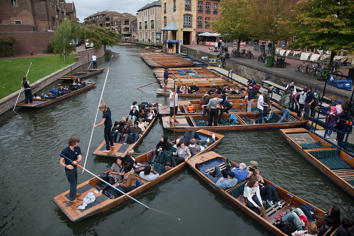 Anglia Ruskin University, Punting in Cambridge