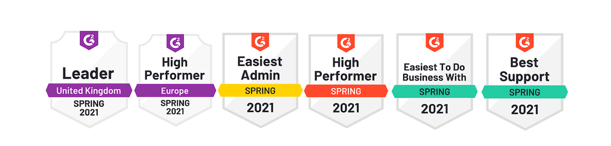 G2 Third Light badges Spring 2021