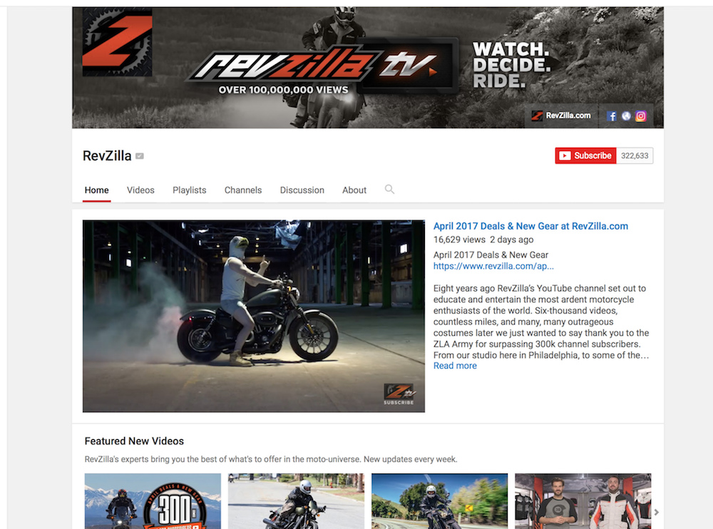 RevZilla, online retailer in motorcycle jackets and gear