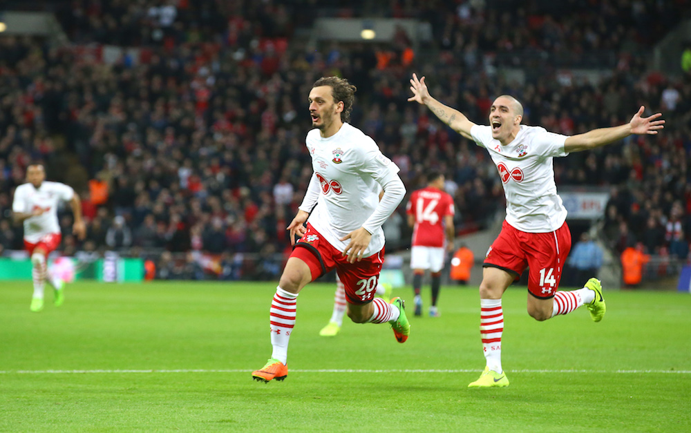 Southampton Football Club, Manolo Gabbiadini celebrates