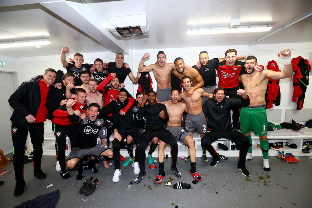 Southampton Football Club, dressing room celebrations