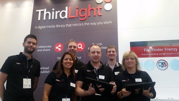 10ab01645 Third Light showcasing media library at Marketing Week Live