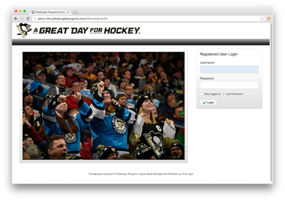 Pittsburgh Penguins deploys Third Light digital asset management solution