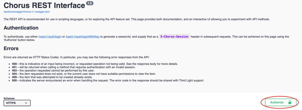 Third Light Chorus REST API Step 5